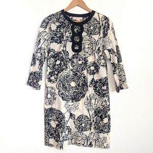 Becky and Max Floral Dress in Cream and Black
